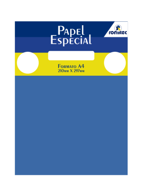 PAPEL COLOR MAIS 180 GSM, PCT C/25 FLS, FORMATO A4, AZUL ROYAL
